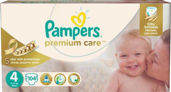 Pampers Памперс пелени  PremCare MB Maxi р-р 4  /8-14кг/  104 бр.  0201881